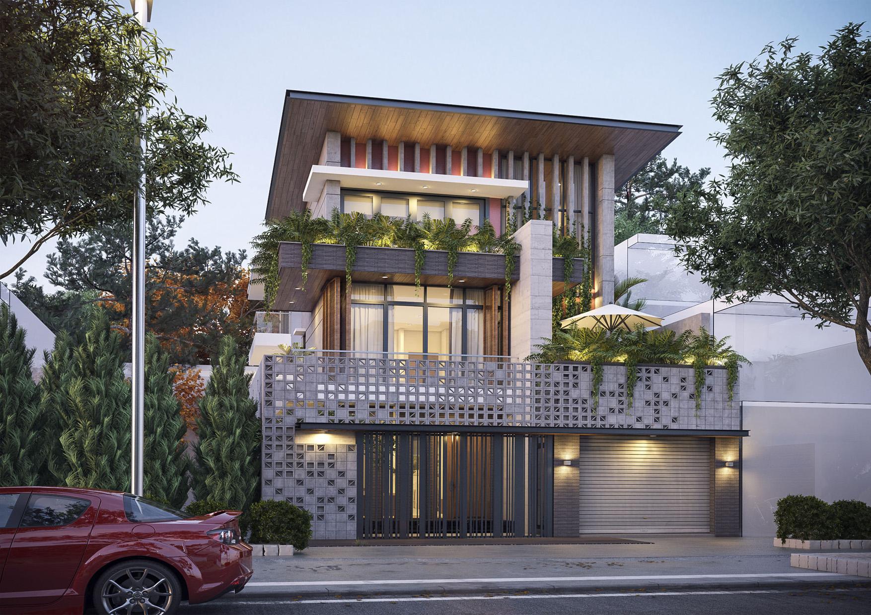 Công trình nhà phố đã hoàn thiện tại Nha Trang do Phố Việt đảm nhận