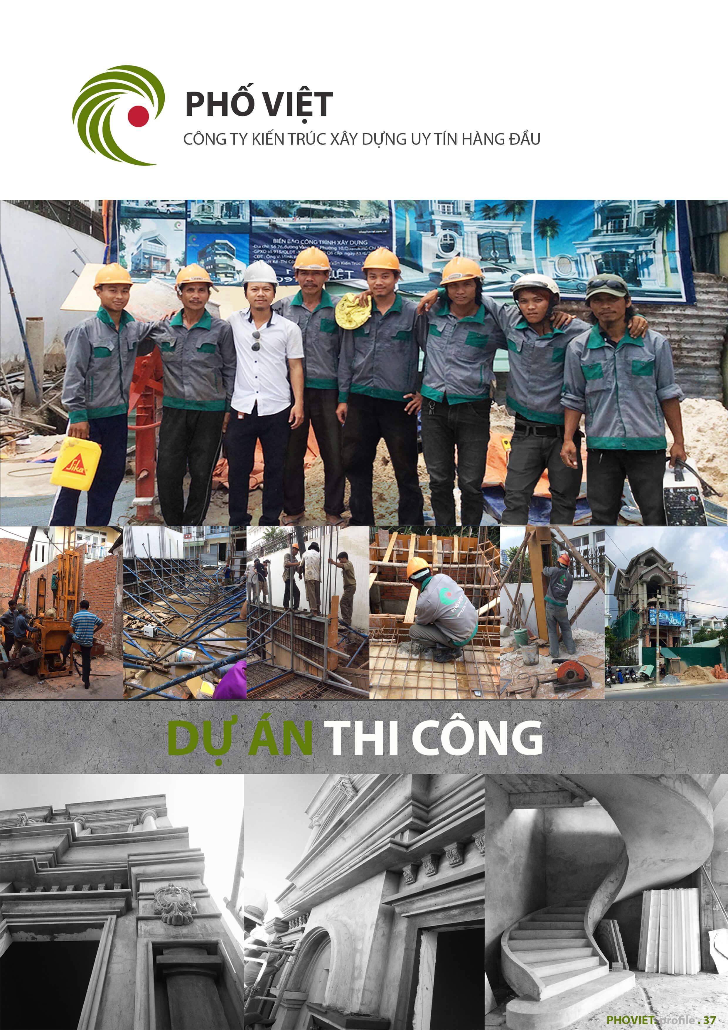 Công ty xây dựng nhà phố trọn gói - Phố Việt đã hoàn thiện hàng trăm công trình khác nhau với chất lượng và giá cả tốt nhất