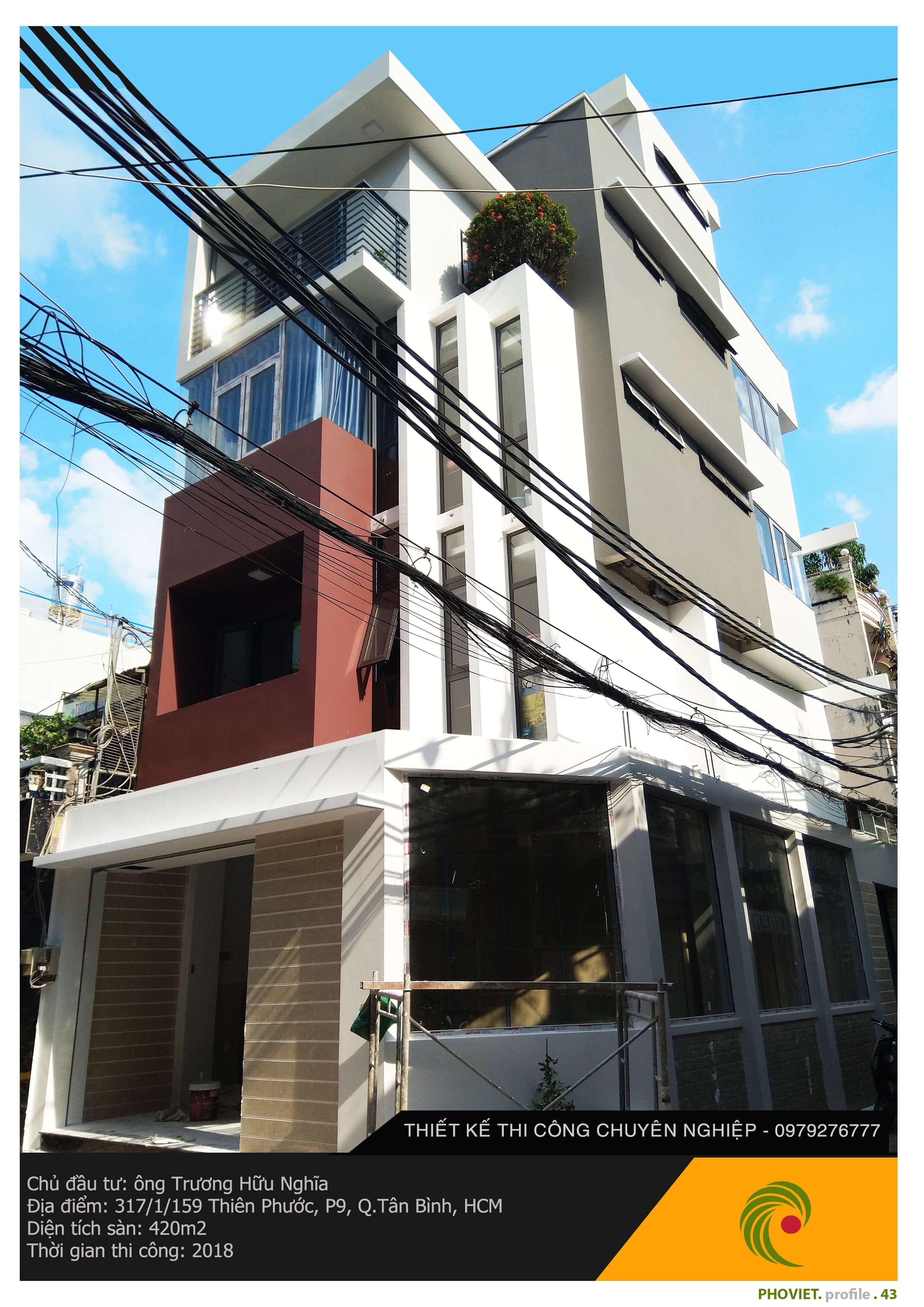 Công trình nhà phố 2 mặt tiền
