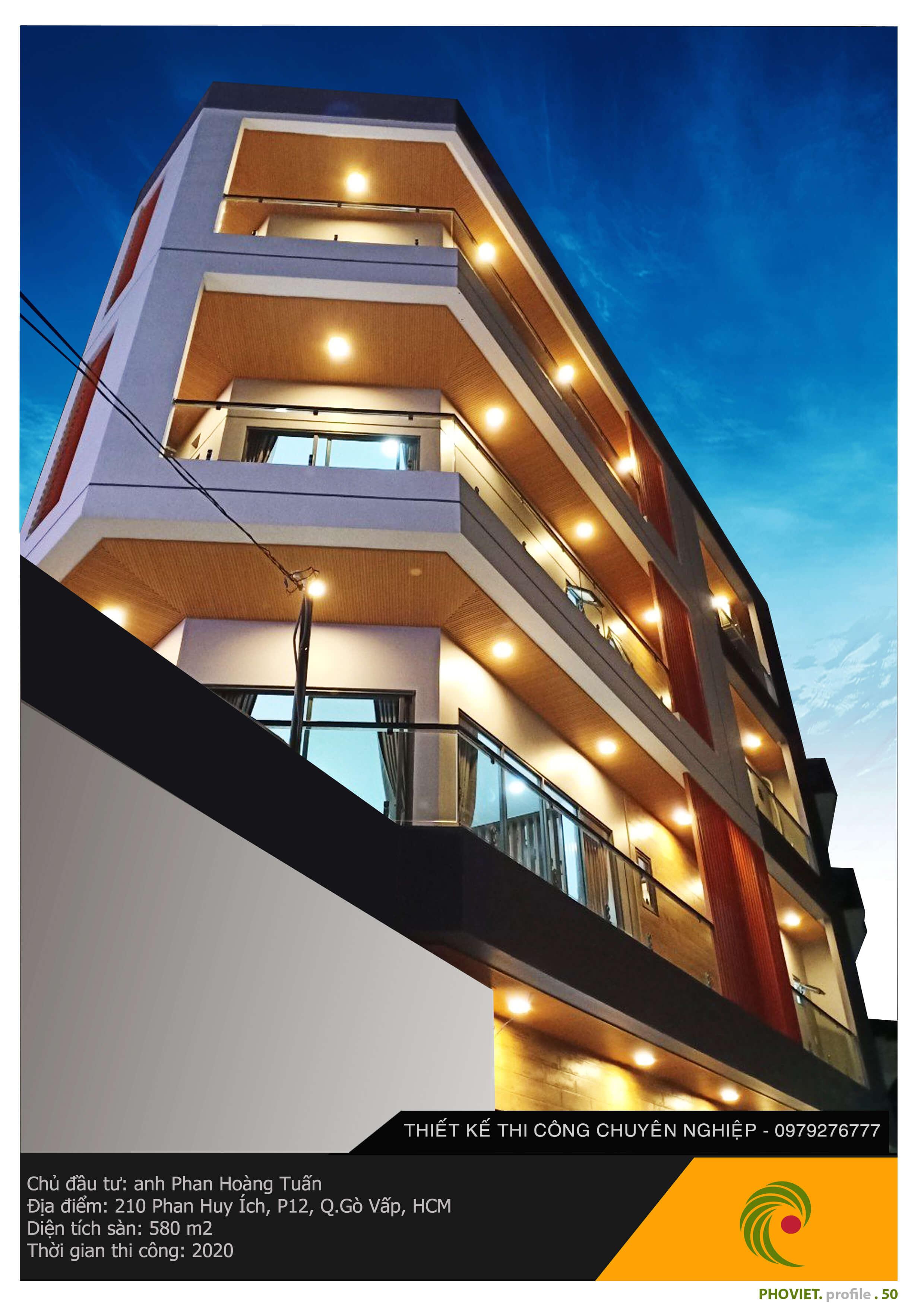 Công trình thi công nhà phố cao cấp do Phố Việt thực hiện