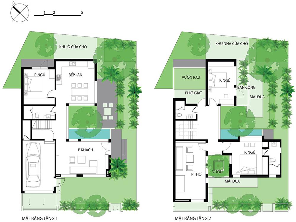 Bản thiết kế ngôi nhà Kín Mà Mở