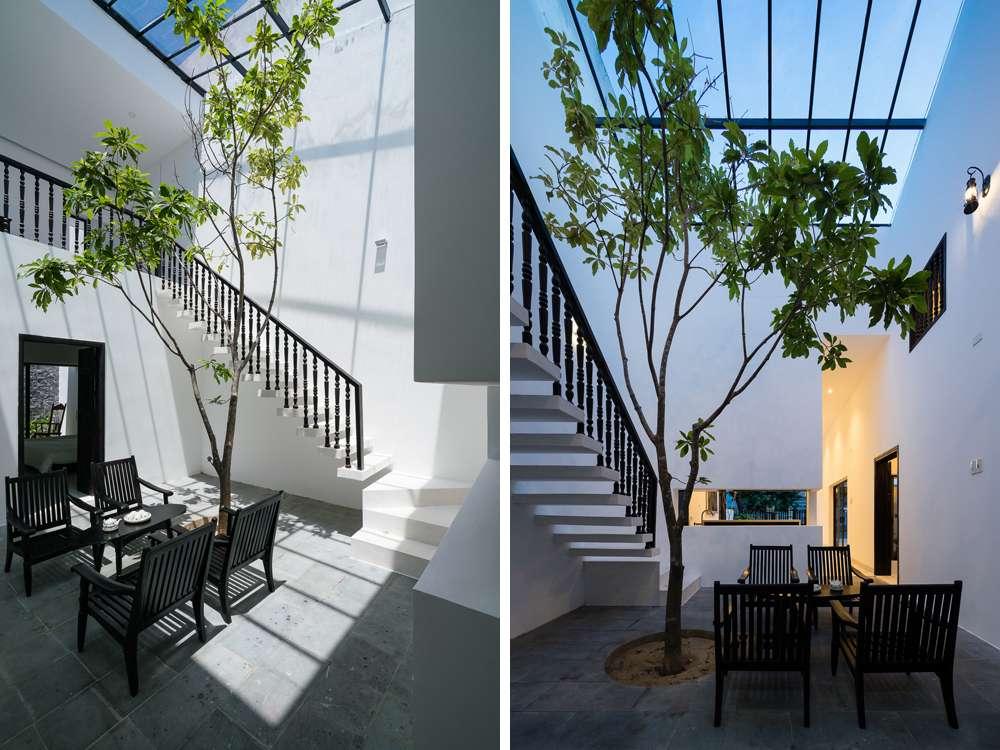 Đây cũng là không gian yêu thích nhất của gia chủ, kết nối giữa các khu động (phòng khách, bếp ăn) với khu tĩnh (phòng ngủ, phòng thờ).