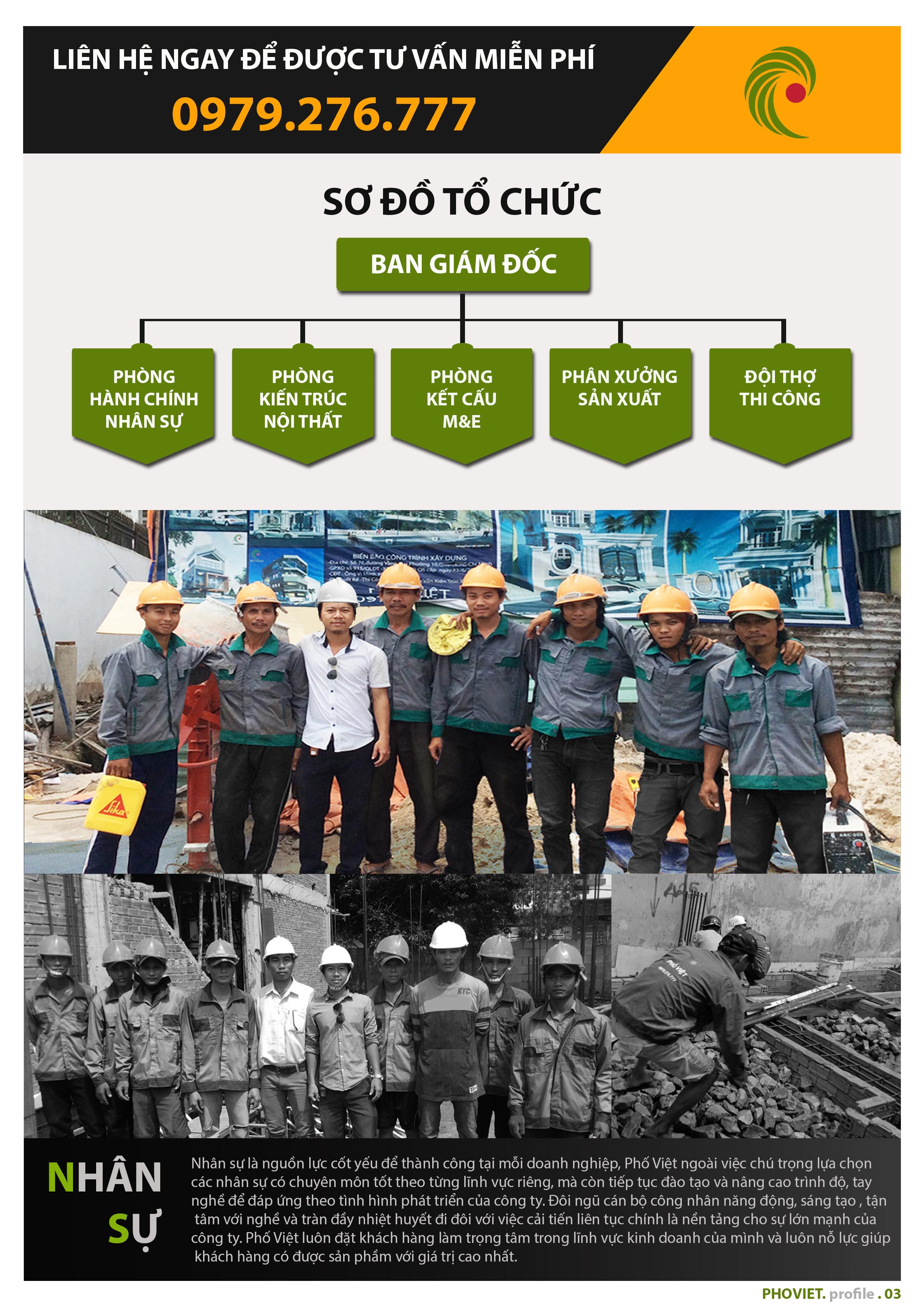 Luôn chú trọng nguồn nhân lực là yếu tố giúp Phố Việt trở thành công ty xây dựng uy tín tại TPHCM