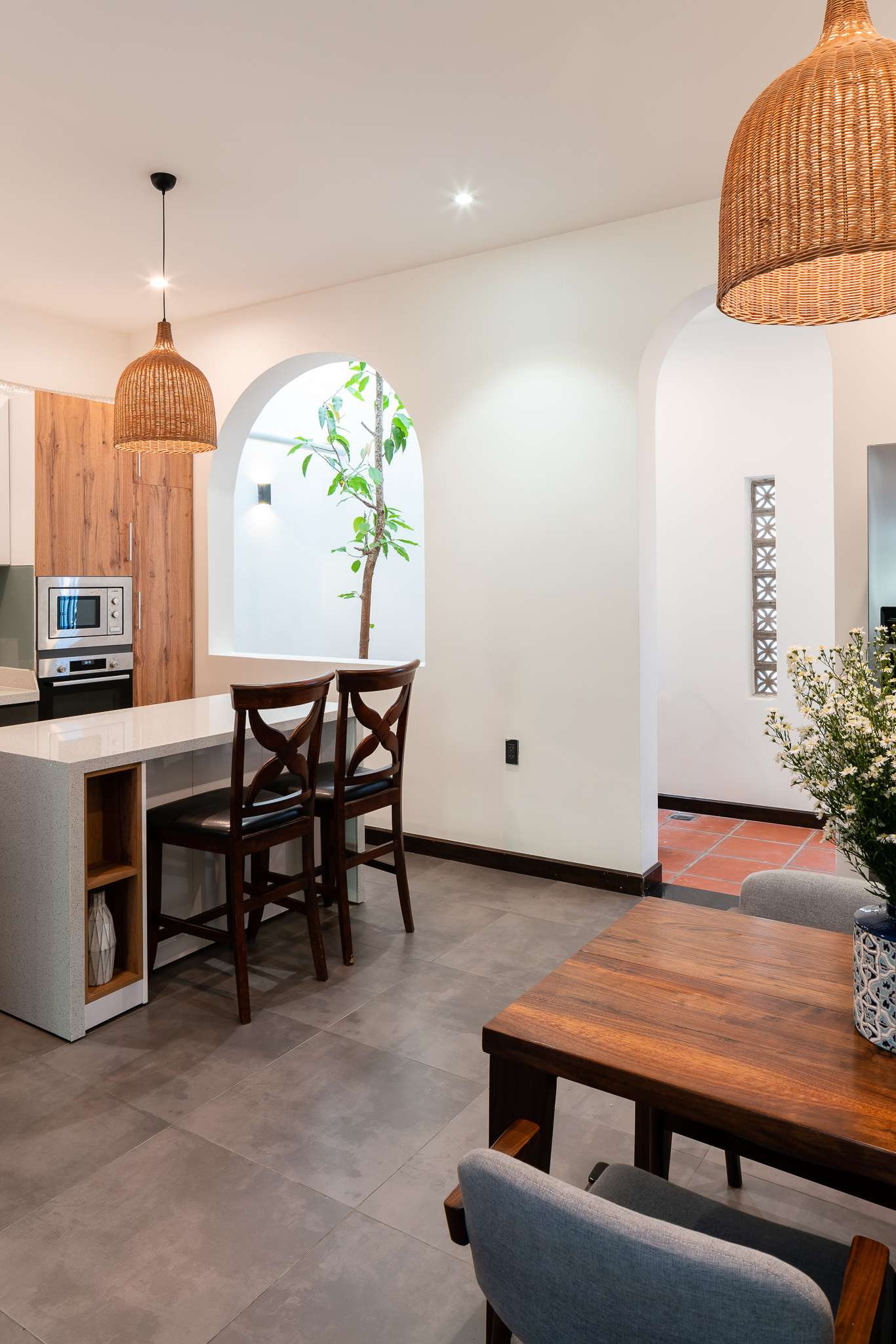 Gạo house - Nhà của Gạo | Giếng trời được bố trí trong phòng bếp