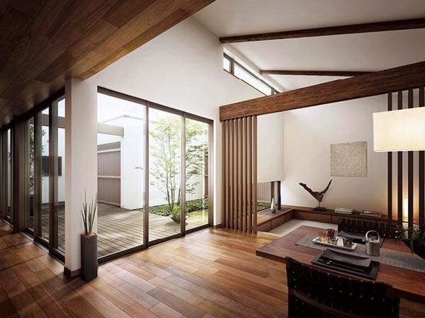 Sử dụng nội thất mở tạo cảm giác rộng thoáng cho ngôi nhà