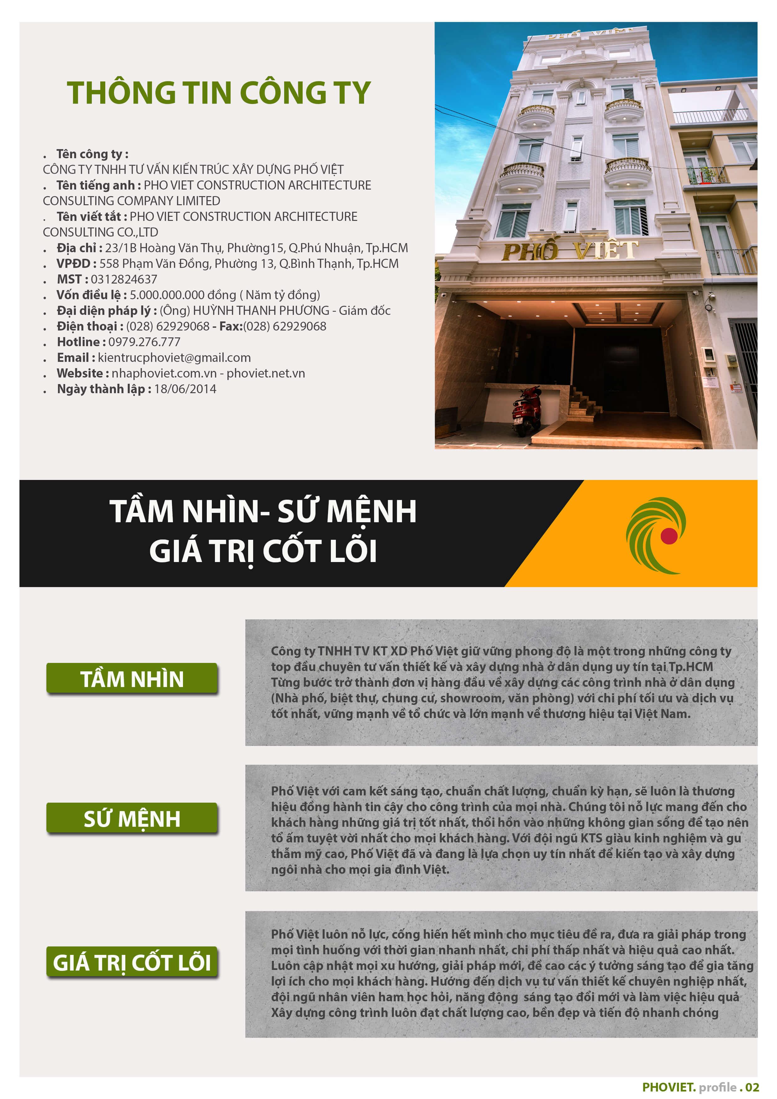 Là chuyên gia trong lĩnh vực thiết kế và xây dựng, công ty xây dựng uy tín tại TPHCM - Phố Việt tự tin sẽ cùng với khách hàng kiến tạo nên không gian sống tuyệt vời nhất